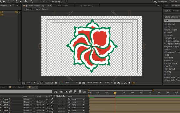 انیمیت در لوگوهای تکرار منظم